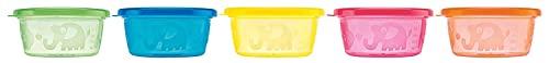 Nûby Snack Pots, 300 ml, 3 m + (Packung mit 6), Farblich sortiert