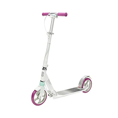 Scooter Rollen Faltbarer Roller 2-Radstoß- Absorptionsmechanismus Einstellbarer Lenker- Hinterbremse for Erwachsene und Teenager Roller Scooter (Color : A)
