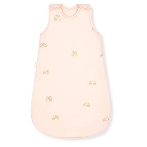 Sleeping Rebels® Schlafsack Baby aus Bio-Baumwolle - Ganzjahres Baby Schlafsack - Babyschlafsack Ganzjährig - 2.5 TOG - Oeko-TEX - Premium Qualität (Rainbow, 50/56)