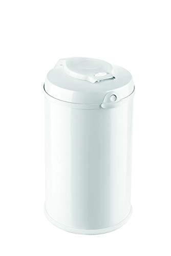 Fillikid Windeleimer Exclusiv   Windeltonne geruchlos   fasst ca. 40 Windel   gross und komfortabel 30 L   Metall weiß mit Abdichtung   für normale Müllbeutel   keine teuren Nachfüllkassetten