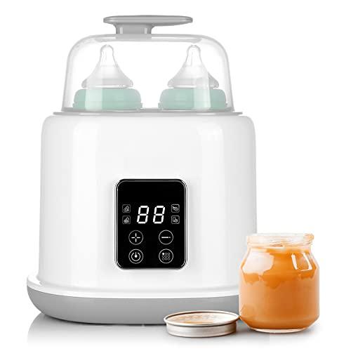 Elektrischer Flaschenwärmer Baby, 6 in 1 Flaschensterilisator und Babykostwärmer mit LCD-Touchscreen, schnelles Aufheizen, automatische Abschaltung, BPA-frei