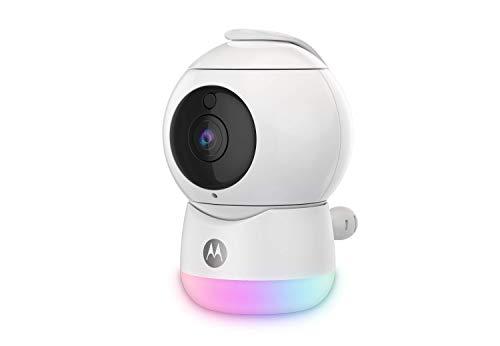 Motorola Peekaboo - Full HD Wifi Video Babykamera mit Nachtlicht - Temperatur, Schwenken, Scannen, Zoomen, Neigen, 2-Wege-Gespräch, Schlaflieder - Lokaler und Cloud-Speicher - Alexa und Google Assist
