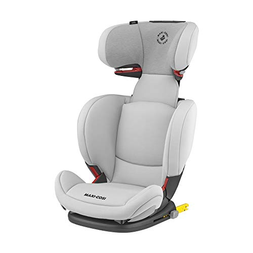 Maxi-Cosi RodiFix AirProtect (AP) Kindersitz, Mitwachsender Gruppe 2/3 Autositz (ca. 15-36 kg) mit ISOFIX und Optimalem Seitenaufprallschutz, Nutzbar ab ca. 3,5 - 12 Jahre, Authentic Grey (grau)
