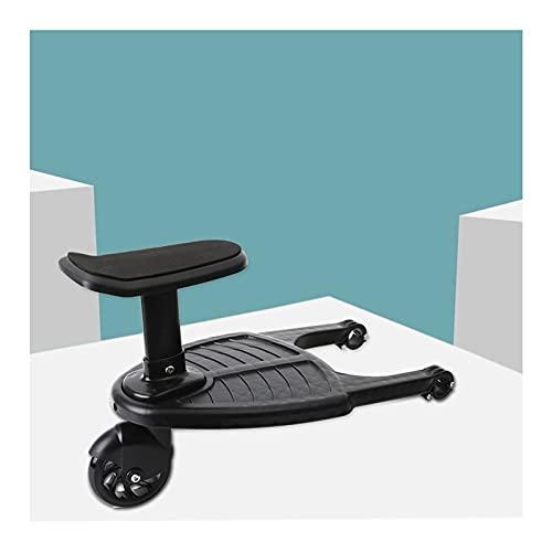 CHUJI Buggy Board Trittbrett mit Sitz für Kinderwagen Rollbrett Mitfahrbrett mit Sitz bis 25 kg Kiddyboard