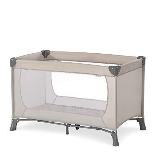 Hauck Reisebett Dream N Play / für Babys und Kinder ab Geburt bis 15 kg / 120 x 60 cm / Leicht / Kompakt Faltbar / Inkl. Trage Tasche / Beige