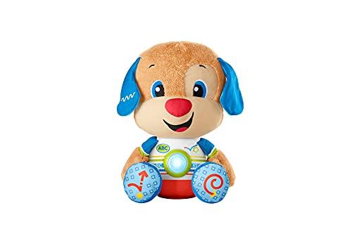 Fisher-Price HCJ15 - Lernspaß Riesen Hündchen, großes musikalisches Plüschtier mit Lerninhalten für Kleinkinder und Kinder, von 18 bis 36 Monaten – deutschsprachig