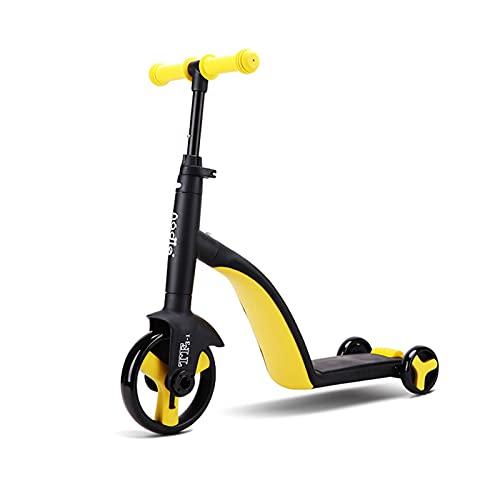 Skrskr Kinderscooter 3 In 1 Kinder Roller Dreirad Balancing Bike Verformbares Kinderfahrzeuge Mit Verstellbarer Griffhöhe, Für Kleinkinder Jungen Mädchen Ab 3 Jahre