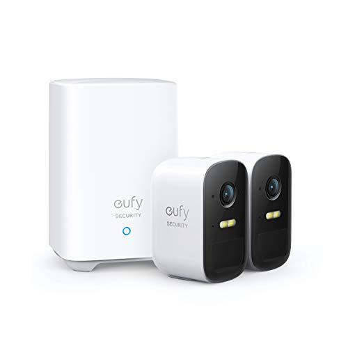 eufy Security eufyCam 2C 2+1, kabellose Überwachungskamera für draußen, 180 Tage Akkuleistung, HD 1080p, IP67 wetterfest, Nachtsicht, Kompatibel mit HomeKit, Doppel-Kamera-Set, gebührenfreie Nutzung