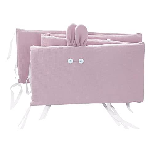 Kinderbett Bumper Pads, Baby Mädchen Jungen Krippeneinlage Einteiliges Abnehmbares Atmungsaktives Krippenzauntuch Für Standard Kleinkindbett