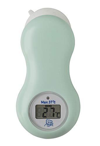 Rotho Babydesign Digitales Bad- und Raumthermometer mit Saugnapf, Inkl. Batterie, Ab 0 Monate, Swedish Green (Mintgrün), 20448 0266 01