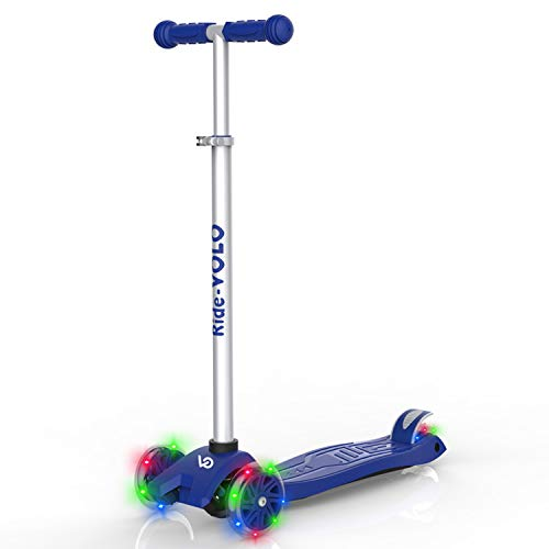 Kinder Scooter, Faltbarer Kinderroller Roller mit 3 LED Räder, Verstellbare Höhe Kinderscooter, Kickscooter für Jungen Mädchen 3/4/6/8 Jahre, bis 50kg