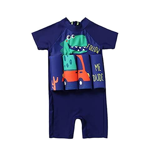 Natashas Baby Jungen Badeanzug mit Schwimmhilfe Sonnenschutz Schwimmend Bademode Kinder Bojen-Badeanzug mit Verstellbarem Auftrieb Schwimmkraft Badebekleidung (L)