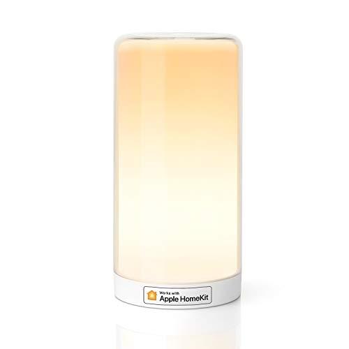WLAN LED Nachttischlampe funktioniert mit Apple HomeKit, Meross Atmosphäre Touch-Tischlampe für Schlafzimmer Wohnzimmer, kompatibel mit Siri, Alexa, Google und Smartthings, kein Hub erforderlich