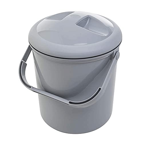 Baby Geruchsdichter Windeleimer, WIndelentsorgungssystem mit Deckel und Tragegriff, für normale Müllbeutel, 10L