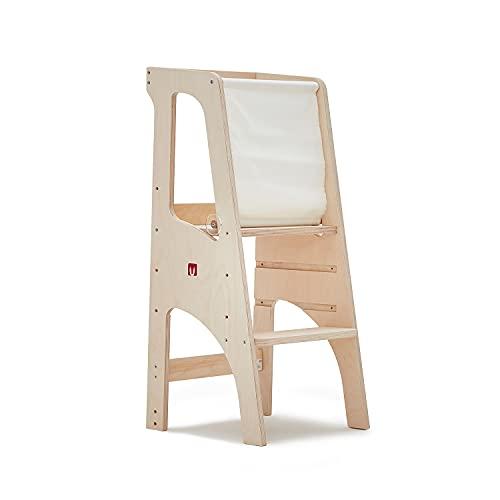 Bianconiglio Kids ® Evo 2020 Learning Tower, Birkenmehrschichtig Beste Qualität, KIDSAFE Naturholz, unbehandelt, Standard