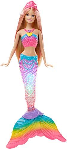 Barbie DHC40 - Dreamtopia Regenbogenlicht Meerjungfrau Puppe mit Lichtershow, Spielzeug für die Badewanne, Spielzeug ab 3 Jahren