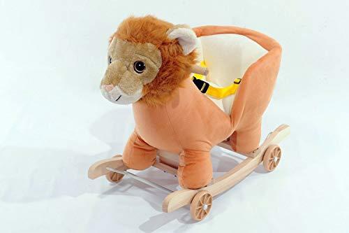 TSARLTD 2-in-1 Schaukelstuhl für Babys, musikalisches Schaukeltier mit Löwenmotiv, zum Aufsitzen