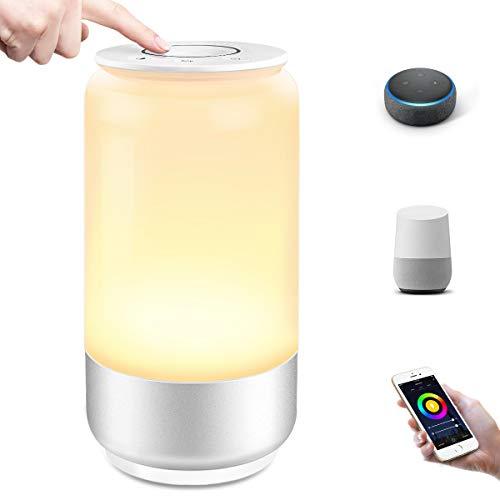 Lepro Alexa Nachttischlampe Touch Dimmbar, LED Smart WiFi Tischlampe mit Timing Funktion, Nachtlicht 2000K-6000K Warmweiß RGB, bis zu 16 Millionen Farben, Kompatibel mit Alexa Google Home
