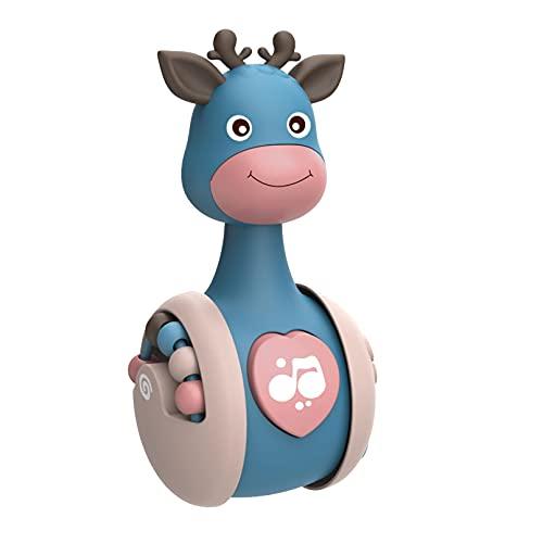 Stehaufmännchen Baby Spielzeug, Cartoon-Giraffe, Eingebaute Glocke. Stehaufmännchen Spielzeug Für Babys Und Neugeborene Beißring Spielzeug Lernspielzeug