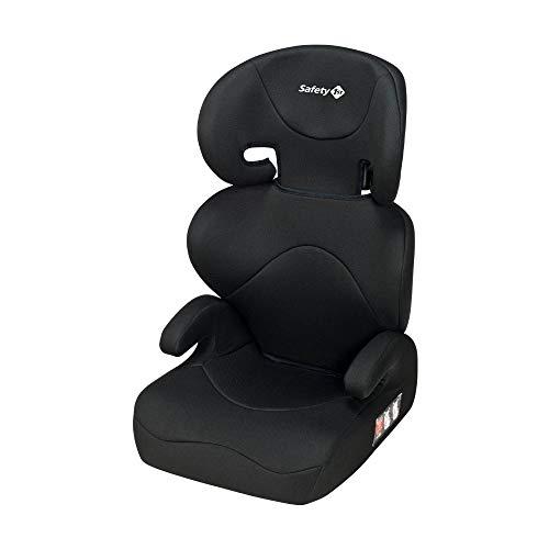 Safety 1st Road Safe Kindersitz, mit Verstellbarer Kopfstütze und Rückenlehne, Komfortabler Gruppe 2/3 Autositz (15-36 kg), Nutzbar ab ca. 3,5 bis 12 Jahre, Full Black (schwarz)