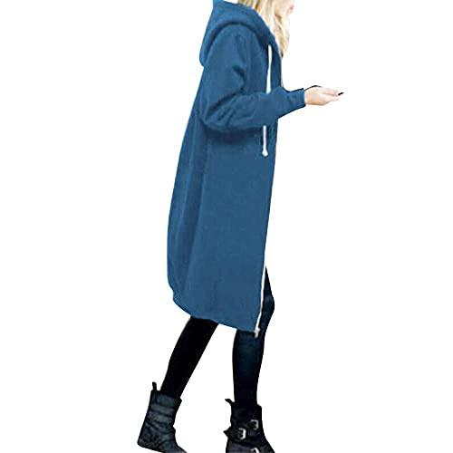 Bolonwzi Damen Parka Coat wasserdicht atmungsaktiv wasserdichte Lange Regenjacke leichte atmungsaktive Funktionsjacke mit Kapuze