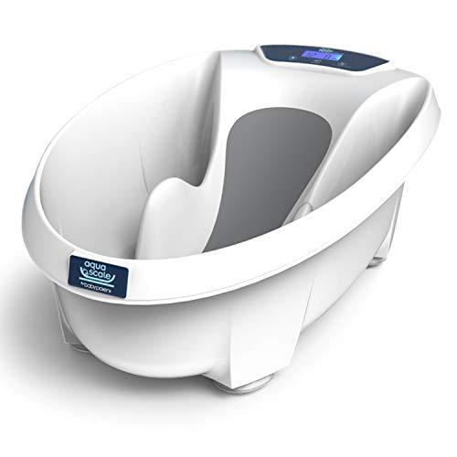 Aqua Scale V3 Next Generation Digitale Baby-Badewanne, Weiß