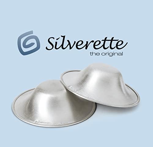 Silverette Silberhütchen aus purem Sterlingsilber - Still-Hütchen gegen wunde & entzündete Brustwarzen - Brustwarzen-Schutz für stillende Mütter - XL