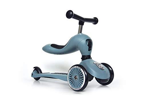 Scoot & Ride 3418 Highwaykick 1 - Steel - Scooter mit sitz