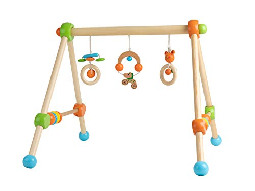 Bieco Spieltrapez   Spielbogen für Babys -Figuren, Rasseln, Kugeln   Spielebogen Holz Baby   Spieltrapez Holz   Baby Mobile Holz   Activity Center Baby Gym   Holzspielzeug Baby   Baby Spielzeug