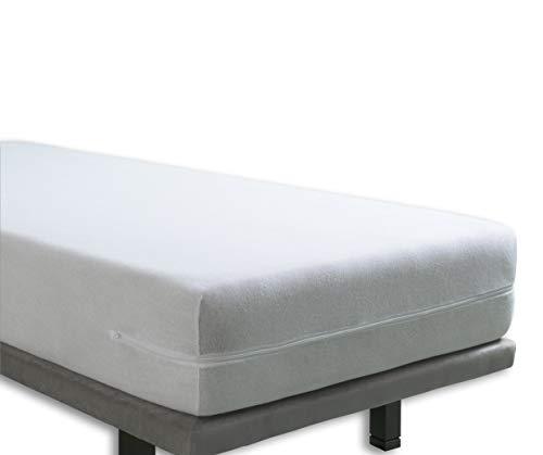 Tural - Kinderbett elastischer Matratzenbezug mit Reißverschluss. Frottee aus 100% Baumwolle. Größe 60x120 baby