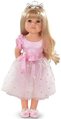 Götz 1359072 Hannah als Prinzessin Puppe - Princess - 50 cm große Stehpuppe mit blonden Langen Haaren und blauen Augen