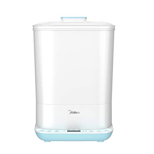 Babyflaschen-Sterilisator, mit Trockenfunktion, Geschirr-Spielzeug-Dampfsterilisator, zusätzlicher Erwärmung von Lebensmitteln, 9,5 l geschichtetem Großvolumen, Lagerregal
