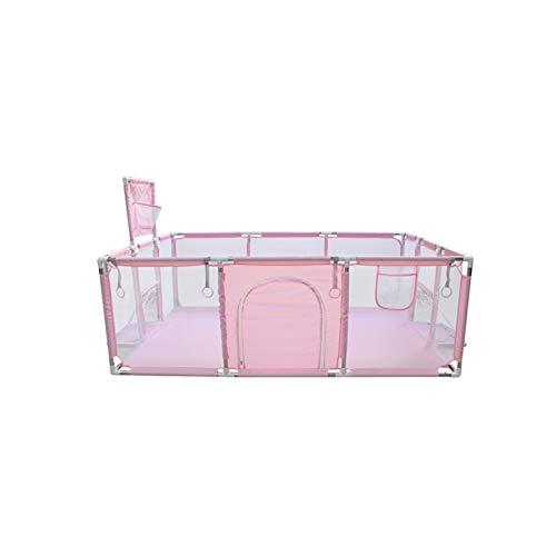 ZXQC Baby-Laufstall Kleiner Spielplatz Kugelgrube, Baby Kleinkind Spiele Startseite Spiel Sicherheitszaun Mit Ballrahmenzaun (Color : Pink Rectangle)