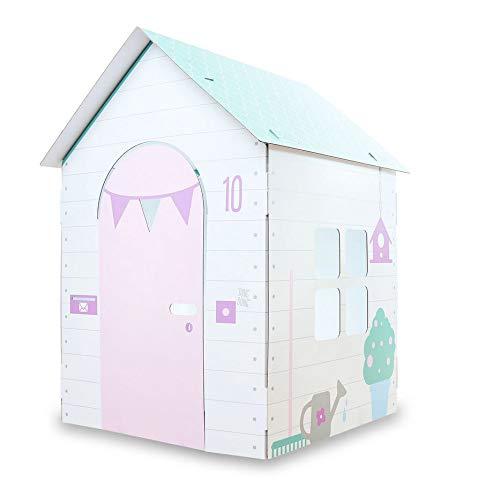 CDF Stabiles Papphaus Papphaus für Kinder Papphäuser Kinderspielzeug Rosa - Geschenk