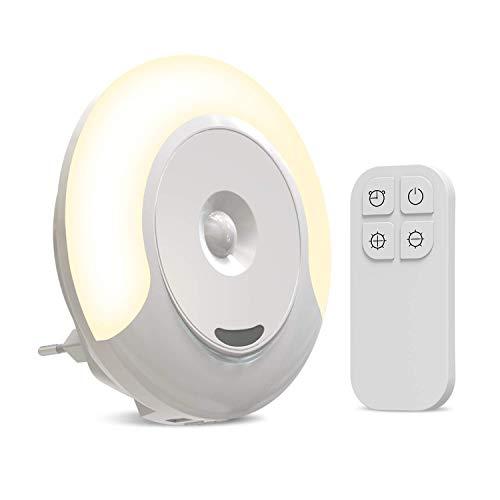 Nachtlicht Stilllicht Steckdose Nachtlampe Dimmbar Schlummerlicht LED Schlaflicht Fernbedienung&11 Helligkeitsstufen Stimmungslicht für Kind baby Erwachsene Kinderzimmer Schlafzimmer Stillen Wickeln