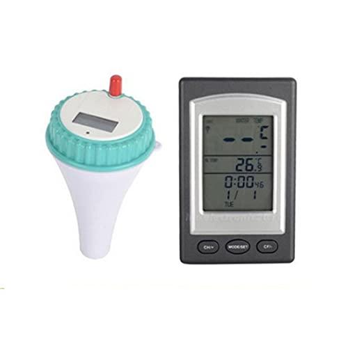 Schwimmende Pool Thermometer, Floating Pool Thermometer, Pool Thermometer Drahtlose Fernbedienung Digital Wasser Temperaturanzeige mit LCD-Display für Schwimmbad Spa Badewanne Aquarium Fischteich