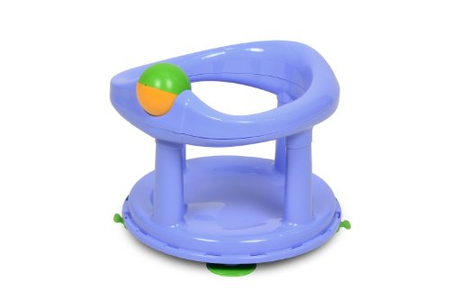 Safety 1st 360° drehbarer Badesitz, ergonomischer Sitz für die Badewanne mit Rollball und 4 Saugnäpfen, nutzbar ab ca. 6 Monaten bis max. 10 kg, pastel, hellblau, 32110009
