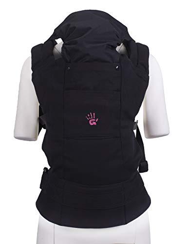 Multi Power Babytrage (schwarz), Komfortable ergonomische GoldBaby Babytrage von 5.5 bis 20kg. 2-Tragepositionen: Bauchtrage und Rückentrage, niederländischen Babymarke