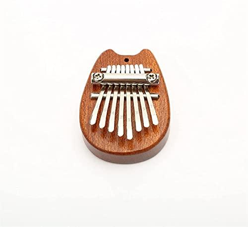 8 Tasten Mini Daumenklavier Finger Percussion Keyboard Pocket Musikwerkzeug,Daumenklavier für Kinder,Tragbare 8 Tasten Fingerklavier Noten,Für Anfänger (D)
