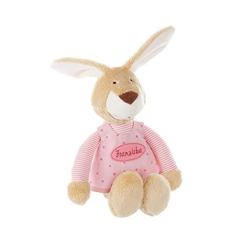 SIGIKID Baby Spieluhr mit Namen bestickt, Wunsch-Melodie wählbar, Hase, personalisiertes Geschenk (rosa)