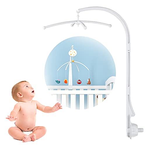Mobile und Halterung, Mobile Halter Babymobile, Babybett Mobile Halterung, Mobile Halterung, Zum Aufhängen von Spielzeug und Puppen, für Krippen (ohne Spielzeug und Spieluhren)