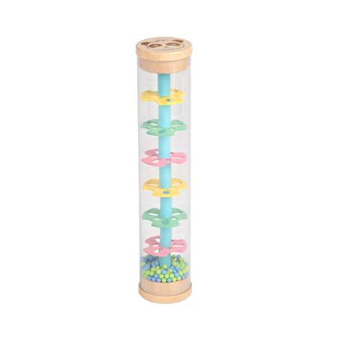 TomaiBaby Regenmacher Spielzeug Regen Shaker Spielzeug Sensorisch Perlen Regentropfen Spielzeug Holz Baby Rassel Spielzeug für Kleinkinder und Kinder