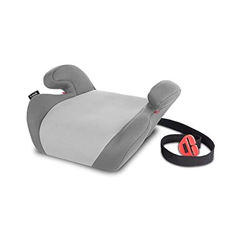 Lionelo Luuk Kindersitzerhöhung 15-36 kg, Kindersitz mit BeltHold System (Grau)