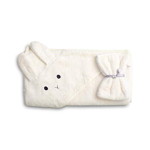 saewelo Kapuzenbadetuch für Babys und Kinder   100% Bio-Baumwolle & Oeko-Tex   hergestellt in Europa   100x100cm   Farbe Ungefärbt