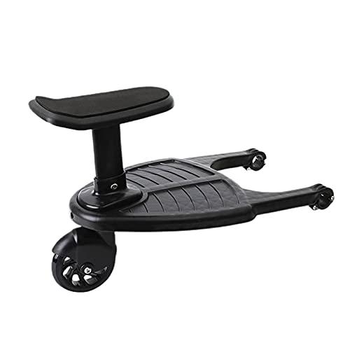 JINGLING Buggy-Board mit Sitz, Universal-Kinderwagen-Boards Tragbares Kinder Boards Troller-Zubehör für 2-5 Jahre alte Kinder unter 25 kg