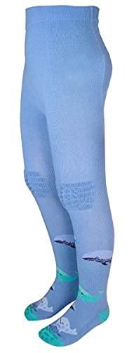 maximo Süße Krabbelstrumpfhose in hellem Jeansblau Motiv  Wal im Meer 330875 (68/74, numeric_68)
