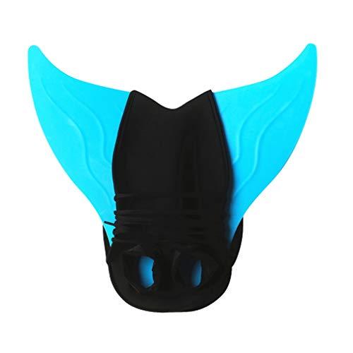 YISHU Meerjungfrauenflosse zum Schwimmen Kinder Erwachsene Kostüm Meerjungfrauenschwanz für Mädchen und Damen Flosse Kinder Blau