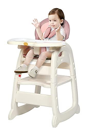 Hochstuhl für Babys und Kleinkinder – mit herausnehmbarem Tablett, 5-Punkt-Gurt, einfach zu montierender Esszimmerstuhl für Jungen und Mädchen von 6 Monaten bis 4 Jahren