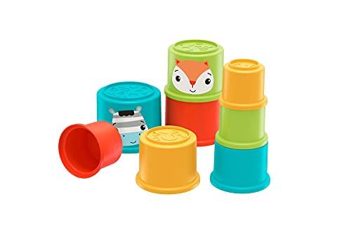 Fisher-Price GYM46 - Bunte Stapelbecher von Fisher-Price entwicklungsfördernde Spielzeuge für Babys, ab 6 Monaten