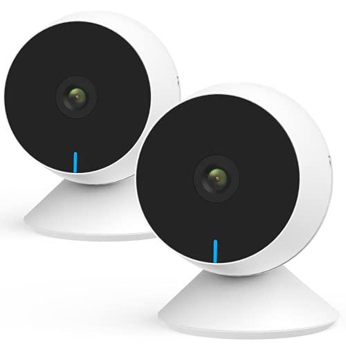 Laxihub Babykamera Überwachungskamera Innen WLAN Babyphone mit Kamera, M1 IP Kamera 1080P FHD Nachtsicht Sicherheitskamera für Haustier, 2-Wege-Audio, Bewegungs- und Geräuscherkennung, 2PC